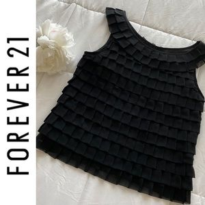 Forever 21 Black Layered Crop Top